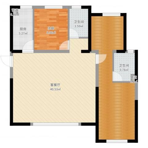 御龙庭1室2厅4卫1厨109.00㎡户型图