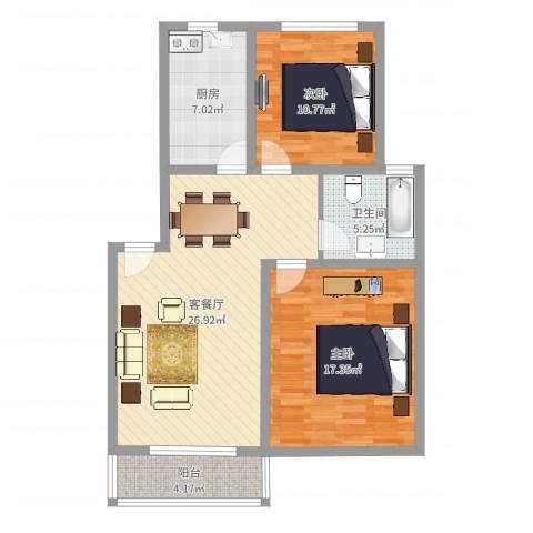 叠翠江南 江南星城2室2厅1卫1厨89.00㎡户型图