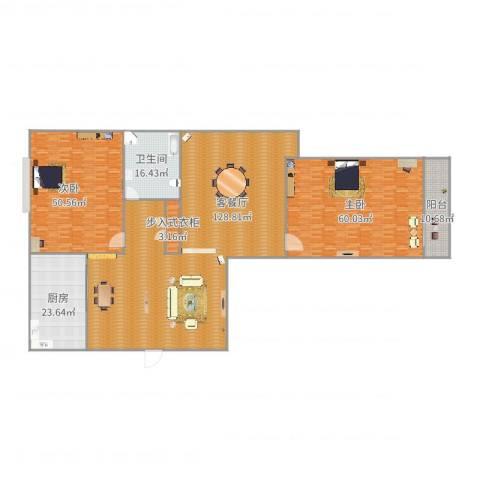 金色港湾2室2厅1卫1厨381.00㎡户型图