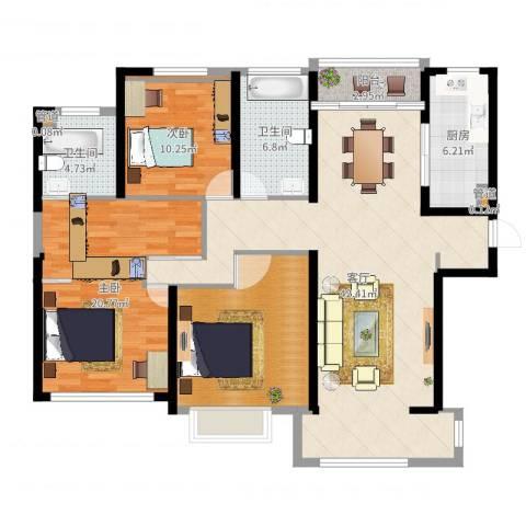 华润置地橡树湾2室1厅5卫1厨136.00㎡户型图
