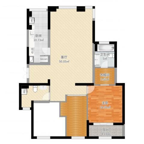 金地澜悦1室1厅1卫1厨122.00㎡户型图