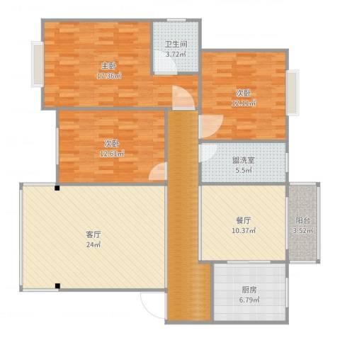凤凰花园3室4厅2卫1厨135.00㎡户型图