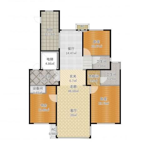 凡尔赛颐阁二期1室1厅5卫1厨140.00㎡户型图