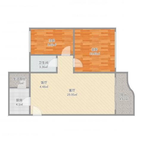 嘉怡花园-2单元7012室1厅1卫1厨84.00㎡户型图
