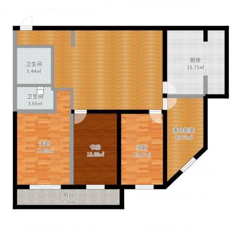 东四块玉南街3室1厅2卫1厨157.00㎡户型图