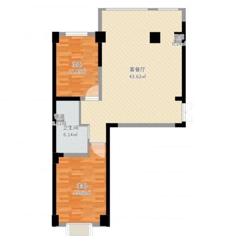 海唐南寒圣都2室2厅2卫1厨96.00㎡户型图