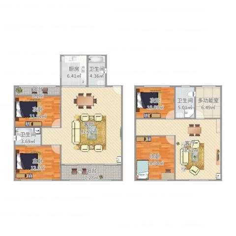 九亭明珠苑4室2厅3卫1厨195.00㎡户型图