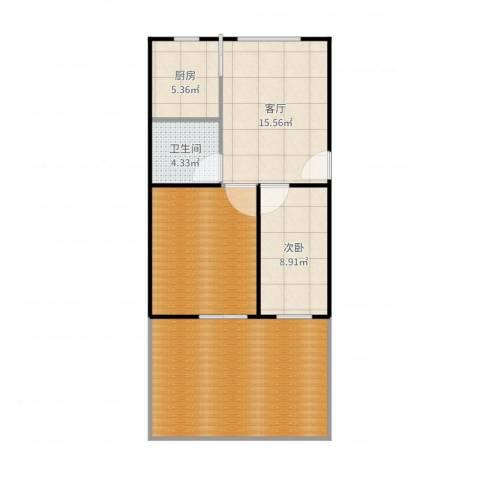 泾东一村1室1厅1卫1厨87.00㎡户型图