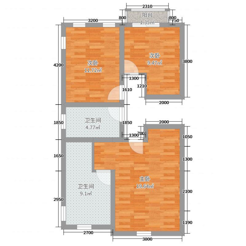 蒙塔卡利195.00㎡A户型4室4厅3卫
