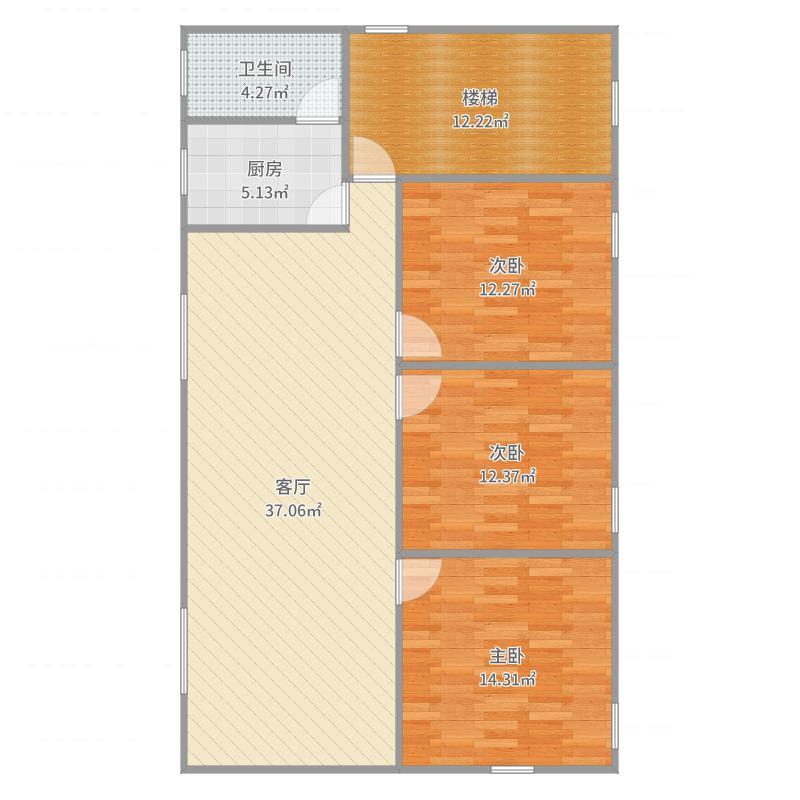 大姐房屋设计方案7楼梯右边5.3米