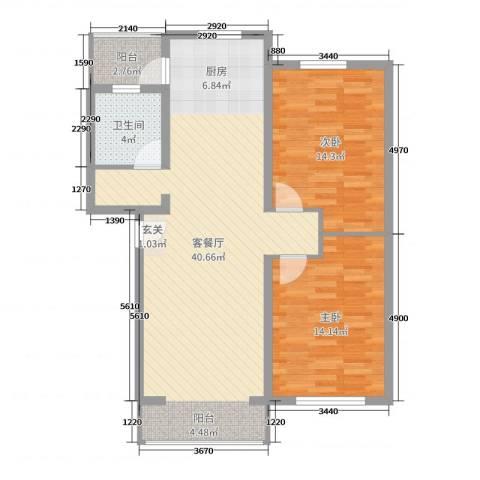 三和家园2室2厅1卫0厨95.00㎡户型图