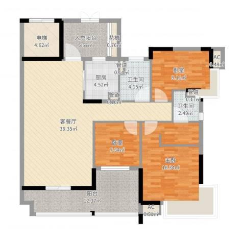 丽雅嘉园1室4厅5卫4厨131.00㎡户型图