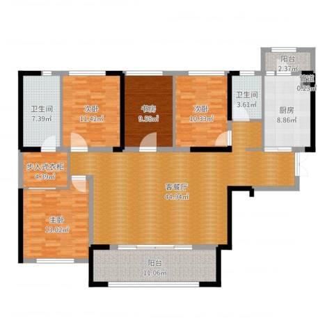 万科紫台4室2厅2卫1厨159.00㎡户型图