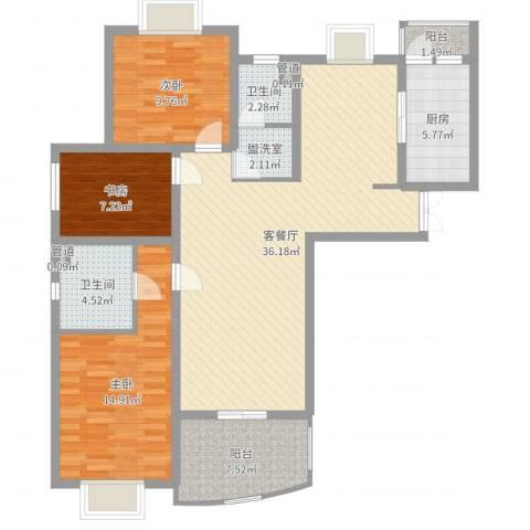 九九园3室4厅2卫1厨115.00㎡户型图