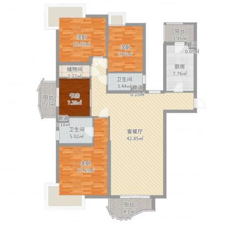 虹景花苑4室2厅2卫1厨149.00㎡户型图