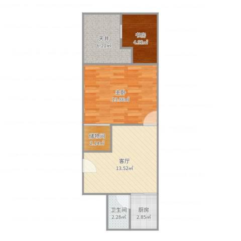 古宋小区2室1厅1卫1厨57.00㎡户型图