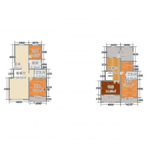 森林谷正弘湾4室2厅2卫1厨202.00㎡户型图
