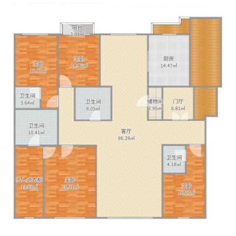 中海紫金苑260平刘先生4室1厅7卫1厨309.00㎡户型图