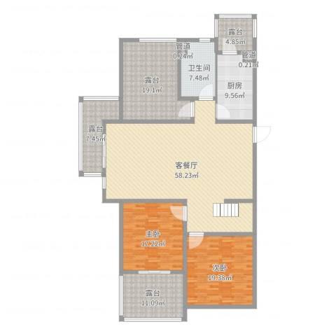 百大春城2室2厅1卫1厨194.00㎡户型图