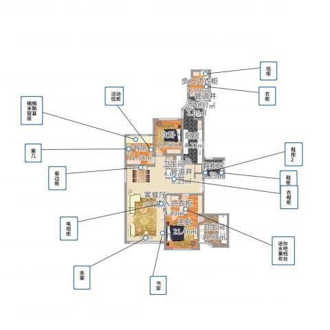 华山丽苑3室2厅6卫1厨192.00㎡户型图