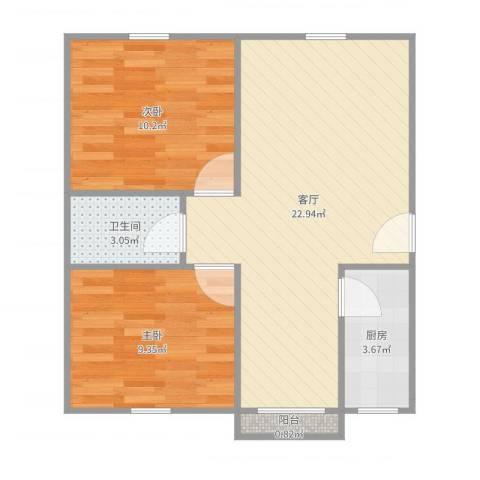 鼎鑫名流苑12号5012室1厅1卫1厨63.00㎡户型图