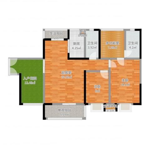 金汇上元2室1厅5卫2厨113.00㎡户型图