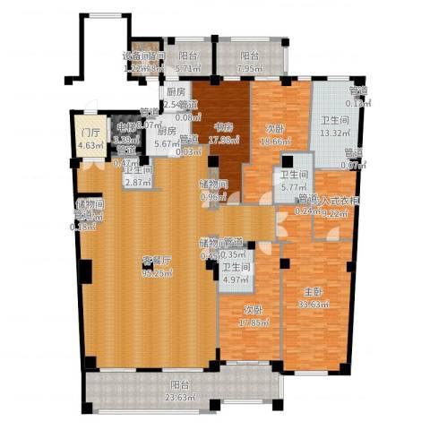 复地御西郊4室2厅4卫2厨351.00㎡户型图