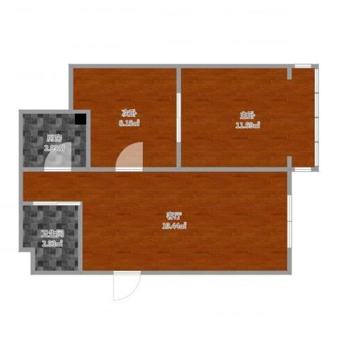 东镇小区2室1厅1卫1厨56.00㎡户型图