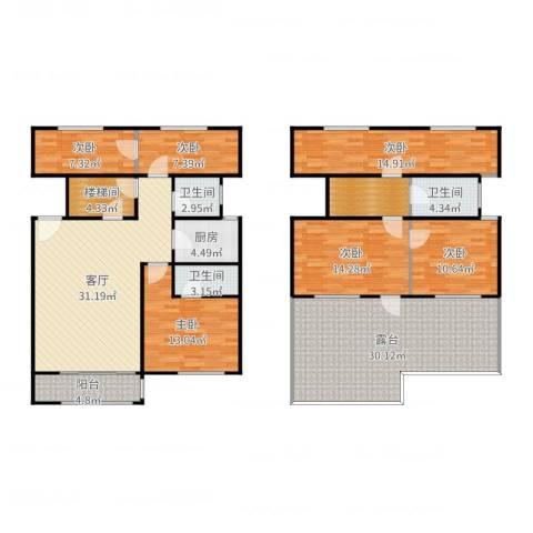 航发锦绣家园6室1厅3卫1厨198.00㎡户型图