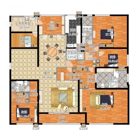 九龙仓雅戈尔铂翠湾5室1厅9卫1厨384.00㎡户型图