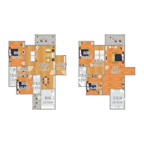 天合凯旋南城5室2厅4卫1厨348.00㎡户型图
