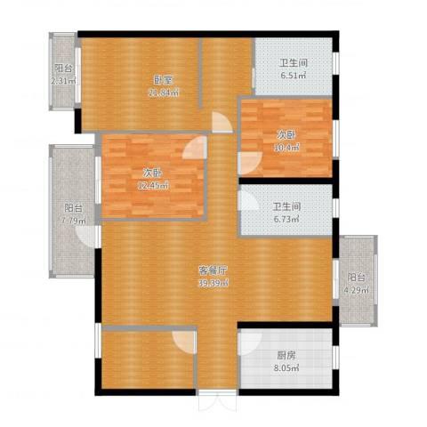 旺座城—海德堡PARK2室2厅2卫1厨159.00㎡户型图