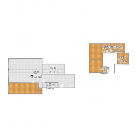 锦城明郡2室1厅3卫1厨267.00㎡户型图