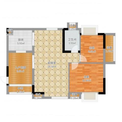华南碧桂园别墅2室1厅4卫4厨92.00㎡户型图