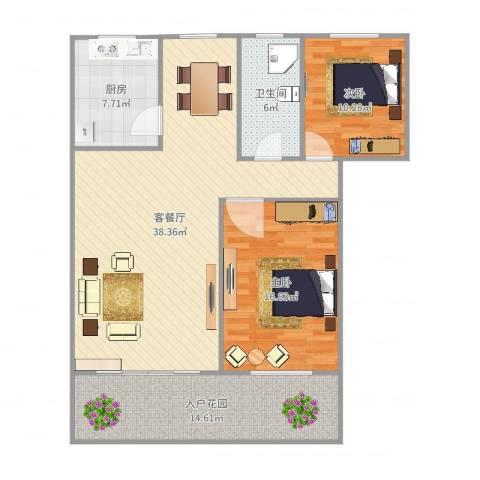 冠生园东方佳苑2室2厅1卫1厨117.00㎡户型图