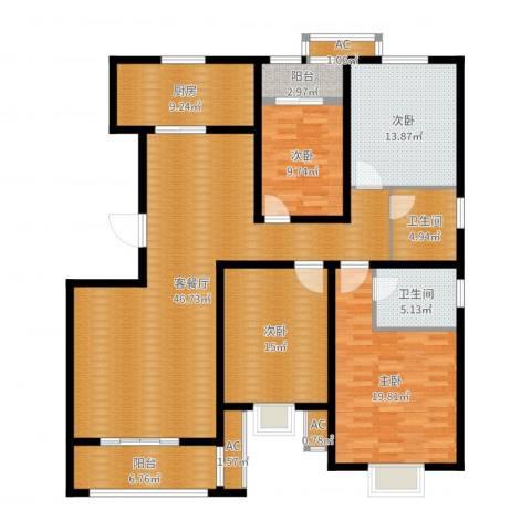 天久一品4室2厅2卫1厨172.00㎡户型图