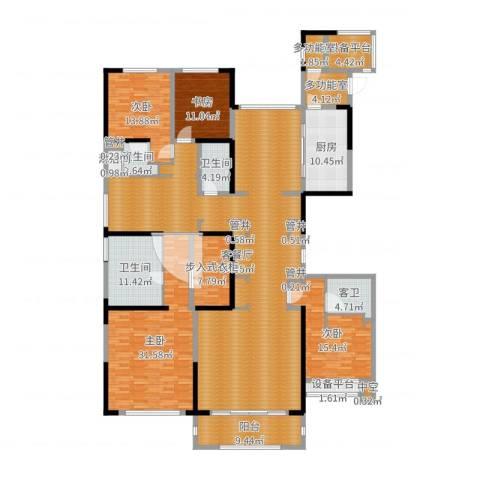 中海紫御豪庭4室2厅9卫1厨284.00㎡户型图