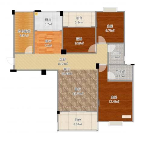 阳光名邸3室1厅2卫1厨145.00㎡户型图