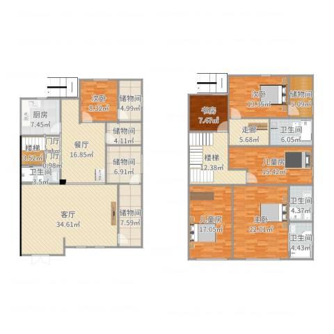 明珠家园4区6室2厅6卫1厨267.00㎡户型图