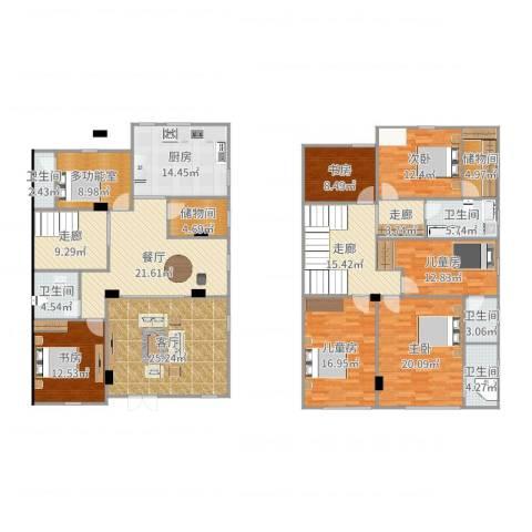 明珠家园4区6室2厅5卫1厨265.00㎡户型图