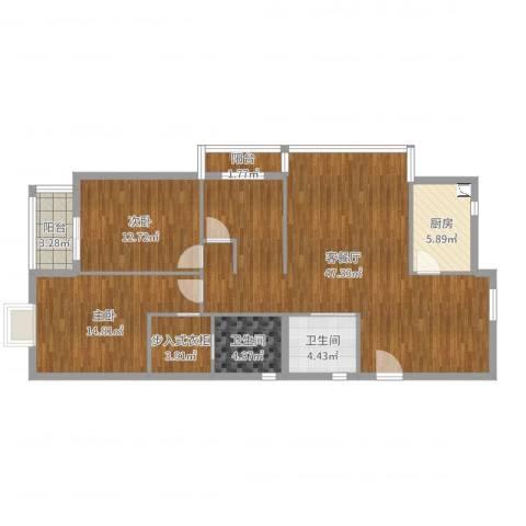 北岸琴森2室2厅2卫1厨123.00㎡户型图