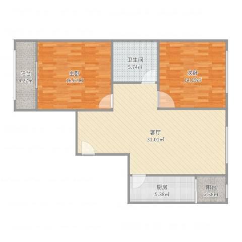 大兴区幸福家园-85M2室1厅1卫1厨99.00㎡户型图