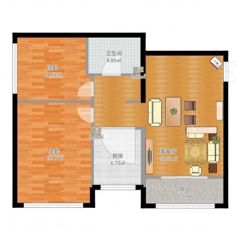 金地经典2室2厅2卫2厨99.00㎡户型图