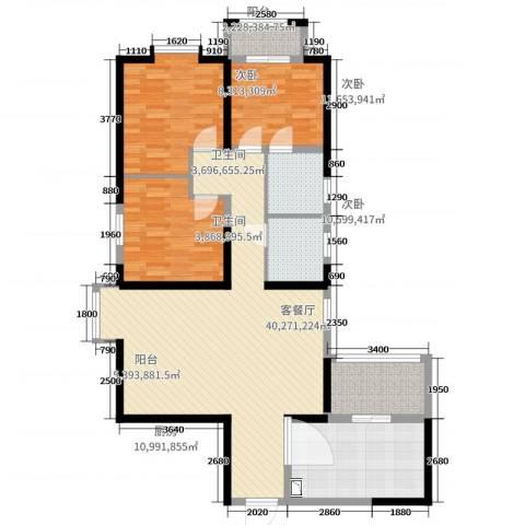 三丰中心思想3室2厅2卫1厨120.00㎡户型图