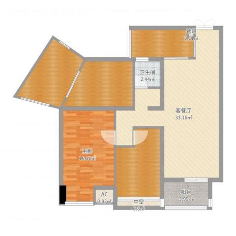 青山湾1室2厅3卫1厨116.00㎡户型图