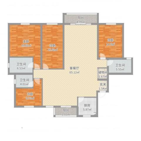 尼德兰官邸4室2厅3卫1厨196.00㎡户型图
