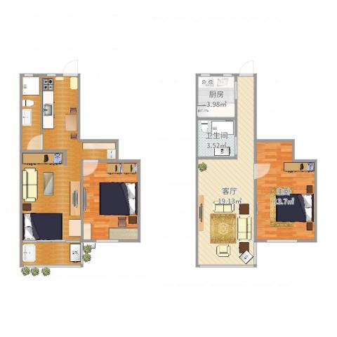铁岭路50弄小区1室1厅4卫2厨100.00㎡户型图