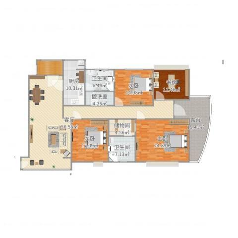 水云间4室3厅2卫1厨221.00㎡户型图