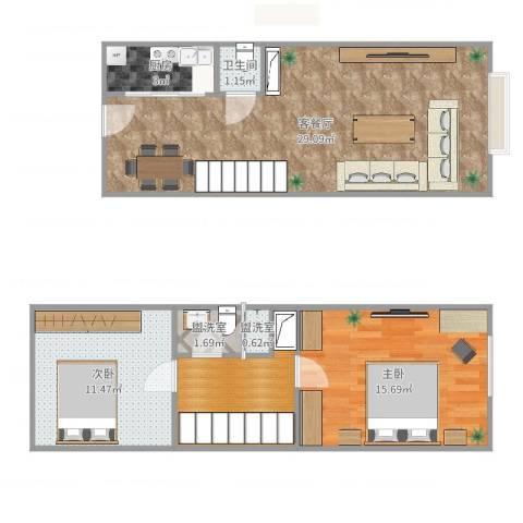 苹果新天地2室6厅1卫1厨87.00㎡户型图