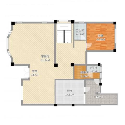 顺德碧桂园别墅1室2厅2卫1厨180.00㎡户型图